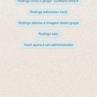 Rodrigo criou um grupo: ''GUSTAVO LIMA E VC''.