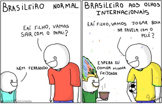 como os grimgos imaginam o brasileiro